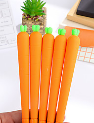 cheap -12 PCS Carrots Black Ink Colors Gel Pen Set