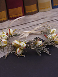 Flax Fabric Headpiece-Wedding Special Occasion Casual Outdoor Wreaths Hair Pin 1 Piece
