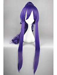 cheap -Synthetic Hair Wigs Curly With Ponytail Cosplay Wig Long Purple