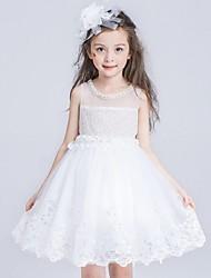 breve abito di sfera / mini vestito dalla ragazza del fiore - collo di cristallo sleeveless del organza con il sequin da ydn