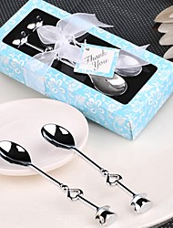 cheap -10box/Set Chrome Tea Spoons / ice cream scoops (Set of 2) Wedding Favor Beter Gifts® Beach Party Supplies
