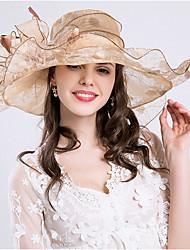 Women's Polyester Mesh Bucket Hat Straw Hat Sun Hat,Cute Casual Spring Summer