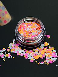 1bottle Mode Nail Art Glitter Runde paillette süße Dekoration Nail Art diy Schönheit bunte runde Scheibe p32