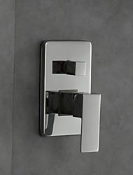 Temperatura misturadora termostática válvula montada válvula de controle misturador acabamento cromado chuveiro função dupla
