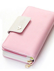 Women PU Casual Event/Party Office & Career Shopping Wallet All Seasons