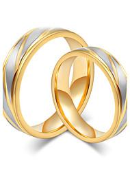 billige -Dame Band Ring Guld Guld/Hvid Stål Mode Fest Kostume smykker