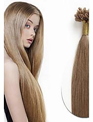 baratos -Febay Queratina / Ponta U Extensões de cabelo humano Liso Cabelo Remy Cabelo Humano Cabelo Brasileiro Dourado Castanho Loiro Dourado Marrom Médio