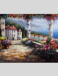 cheap -Oil Paintings Modern Landscape Style Canvas Material With Wooden Stretcher Ready To Hang Size60*90CM and 50*70CM .