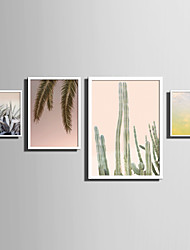 cheap -E-HOME® Framed Canvas Art   Simple Natural Scenery And Plant Series (3) Theme Series Framed Canvas Print One Pcs