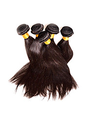 cheap -Wholesale Peruvian Straight Hair 5Bundles 500g Lot Best Hair Supplier Products Real 8A Unprocessed Virgin Hair Natural Black Color