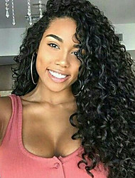 cheap -Human Hair Glueless Lace Front / Lace Front Wig Curly Wig 130% Natural Hairline / African American Wig / 100% Hand Tied Women's Short / Medium Length / Long Human Hair Lace Wig
