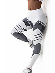 cheap -Women's Polyester Medium Cross - spliced Sporty Legging,Patchwork White Black