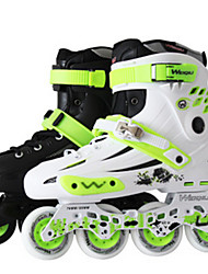 Men's Women's Adults' Inline Skates Wearable Wearproof Green/White/Black
