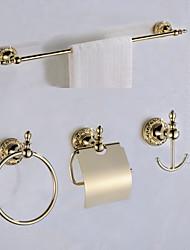abordables -Set d'Accessoires de Salle de Bain Antique Laiton Fixation au Mur