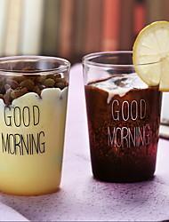 Copo de xícara de café de vidro 2pcs copo 400ml