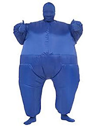 cheap -Costume Inflatable Full Body Suit Inflatable Costume Teen Chub Suit Full Body Jumpsuit Costume Blue Color Masked Man Adult Large