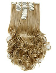 cheap -Synthetic Hair False Hair Extensions 20inch 150g Curly Hairpiece Heat Resistant Hair D1022 24/27#