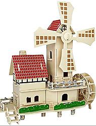 Недорогие -3D пазлы Игры с последовательностью Наборы для моделирования Знаменитое здание Китайская архитектура Веселье Дерево Классика Детские Универсальные Игрушки Подарок