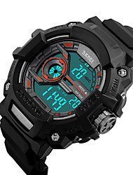 cheap -SKMEI® 1233 Men's Woman Watch Double Significant Outdoor Sports Watch Mountain Climbing Waterproof Electronic Watch Male LCD Students Multi-Function