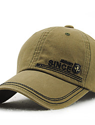 Men's Cotton Baseball/Peaked Cap Sun Hat Outdoors Sports Vintage Casual Solid Embroidery Summer All Seasons Blue/Brown/Army Green/Beige