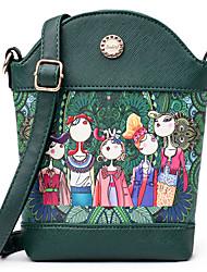 Femme Sacs Toutes les Saisons Polyuréthane Mobile Bag Phone pour Décontracté Vert