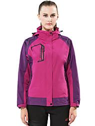 Women's Hiking 3-in-1 Jackets Outdoor Waterproof Thermal / Warm Windproof Dust Proof Breathable 3-in-1 Jacket Winter Jacket Top Double