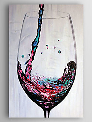 cheap -Hand-Painted  Abstract Wine Still Life Oil Painting With Stretcher For Home Decoration Ready to Hang