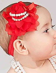 cheap -Unisex Hair Accessories, All Seasons Tweed Chiffon Headbands - White Red Purple Royal Blue