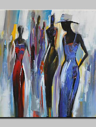 cheap -Hand-Painted Modern Abstract Girl Oil Painting On Canvas Wall Art For Home Decoration Ready To Hang