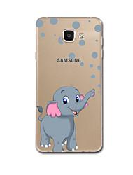 economico -Custodia Per Samsung Galaxy A7(2017) A5(2017) Ultra sottile Fantasia/disegno Custodia posteriore Elefante Morbido TPU per A5 (2017) A7