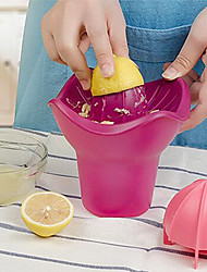 1Pcs   New 400Ml Handmade Manual Orange Lemon Juicer Squeezer Cup Fruit Reamer Pressure Citrus Removable Wash Kitchen Fruit Tool Gadget  Random Color