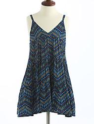 cheap -Girl's Plaid Lattice Dress, Cotton Summer Sleeveless Check Blue