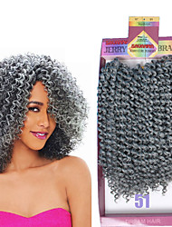 cheap -Braiding Hair Curly Hair Accessory / Human Hair Extensions / Weave 3pcs / pack Hair Braids Short Daily Brazilian Hair / There are 3 piece in one pack. Normally 5-6 pack are enough for a full head.