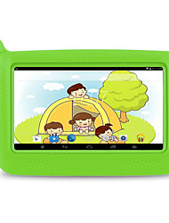 billiga -M713 7 tum Android Tablet (Android 4.4 1024 x 600 Quad Core 512MB+8GB) / 32 / TFT / Micro USB / TF-Kortplats / Hörlursuttag 3.5mm