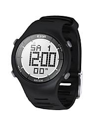 herre mode afslappet digitale ure 30m vandtæt digital dual tid stopur udendørs sport armbåndsur ezon l008