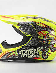 MEJIA Off-Road Motorcycle Racing Helmet Gloss Yellow Full Face Damping Durable Motorsport Helmet