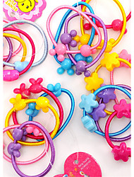 cheap -Sweet Mickey Head Activities Fine Hair Rope Jelly Color Candy Hair Circle Children Headdress Baby Hair Ornaments 100PCS