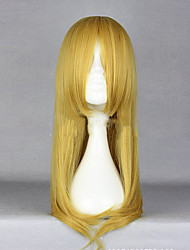cheap -hairjoy Women Synthetic Wig Long Straight Blonde Middle Part With Bangs Cosplay Wig Costume Wig