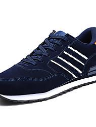Недорогие -Муж. обувь Полиуретан Весна Осень Удобная обувь Спортивная обувь Беговая обувь Шнуровка для Повседневные Серый Синий