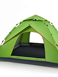3-4 persons Tent Double Camping Tent One Room Automatic Tent Waterproof Portable Windproof Ultraviolet Resistant Rain-Proof Anti-Insect