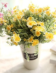 1 Branch Polyester Plastic Lilies Tabletop Flower Artificial Flowers 33