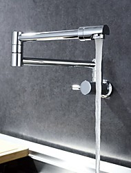 Contemporary Pot Filler Wall Mounted Rotatable with  Ceramic Valve Single Handle One Hole for  Chrome , Kitchen faucet