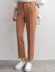 cheap -Women's Business Straight Pants - Solid Colored