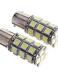 abordables -2pcs 1156 27 * 5050smd llevaron la luz blanca dc12v de la bombilla del coche