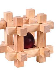 baratos -Quebra-Cabeças de Madeira Quebra-Cabeças Inteligentes Quebra-Cabeça Luban Quadrada Teste de QI Madeira Unisexo Dom