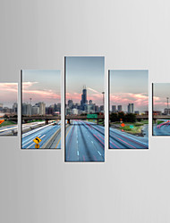 Photographic Print Leisure Modern Realism,Five Panels Canvas Any Shape Print Wall Decor For Home Decoration