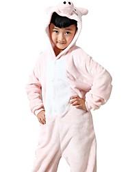 kigurumi Pyjamas Porcelet / Cochon Collant/Combinaison Fête / Célébration Pyjamas Animale Halloween Rose Motif Animal Costumes de Cosplay