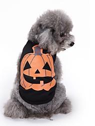 Недорогие -Коты Собаки Футболка Жилет Одежда для собак Лето Тыква Милые Мода На каждый день Хэллоуин