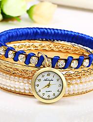 Недорогие -Жен. Женский Модные часы Китайский Кварцевый Цветной Позолоченное розовым золотом Группа Кольцеобразный Черный Белый Красный Фиолетовый