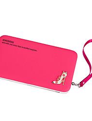 cheap -Women Bags PU Wallet Rivet for Casual Formal Outdoor Office & Career All Seasons Fuchsia Light Purple Deep Purple Sky Blue Pink